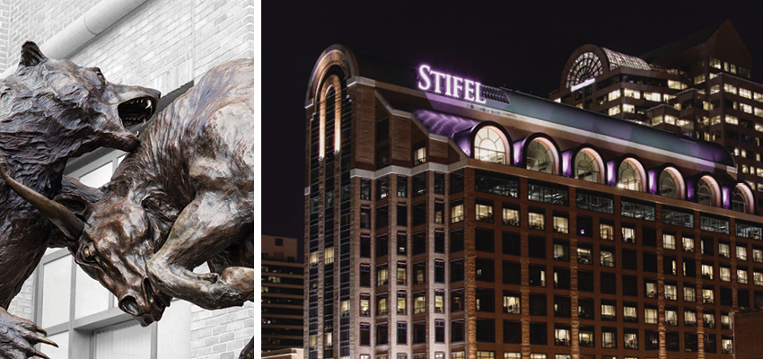 Forces and Stifel headquarters in St. Louis, Missouri at night